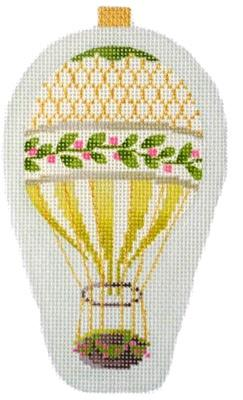 Mini Hot Air Balloons - Gold Holly Painted Canvas Kirk & Bradley