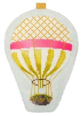 Mini Hot Air Balloons - Gold Stripe Painted Canvas Kirk & Bradley