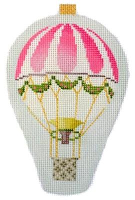 Mini Hot Air Balloons - Pink Stripe Painted Canvas Kirk & Bradley