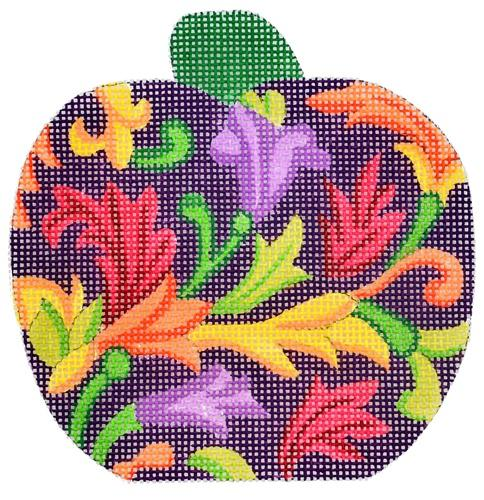Mini Pumpkin Purple Florentine Painted Canvas Alexa Needlepoint Designs
