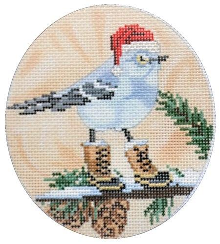 Mockingbird with Red Hat & Boots Painted Canvas Scott Church Creative