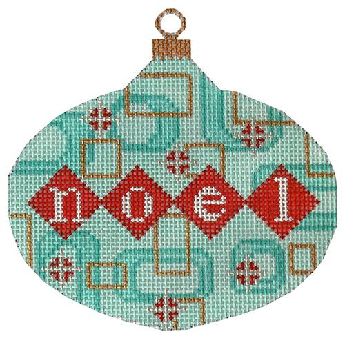 Mod Noel Ornament Painted Canvas Eye Candy Needleart