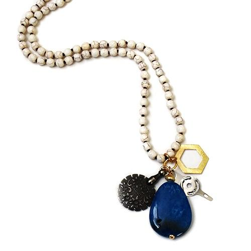 Molly Beads Necklace - Cobalt Accessories Molly Beads