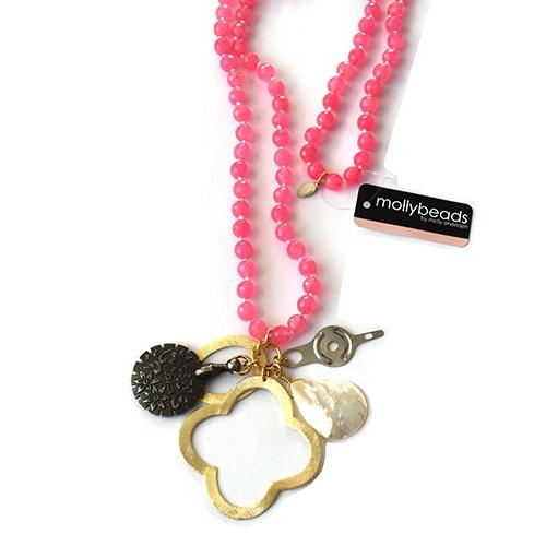 MollyBeads Necklace - Pink Accessories MollyBeads