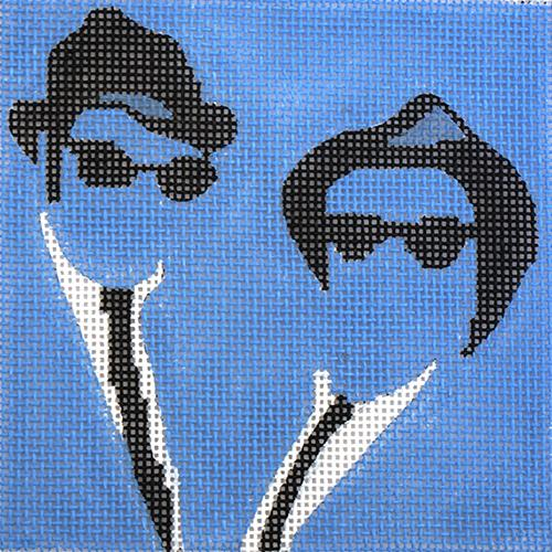 Movie Coaster - Blues Brothers Painted Canvas Melissa Prince Designs