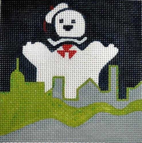 Movie Coaster - Ghost Busters Painted Canvas Melissa Prince Designs