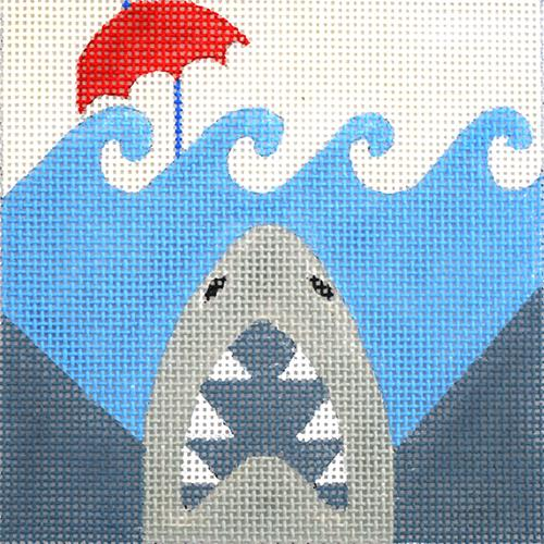 Movie Coaster - Jaws Painted Canvas Melissa Prince Designs