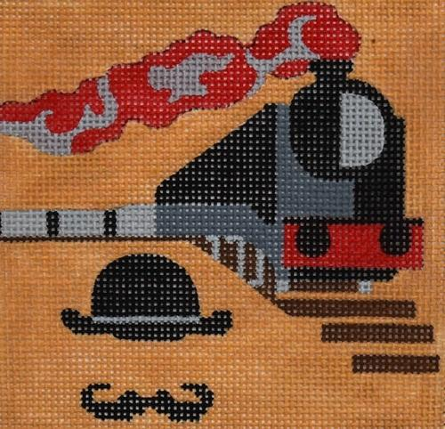 Movie Coaster - Murder on the Orient Express Painted Canvas Melissa Prince Designs
