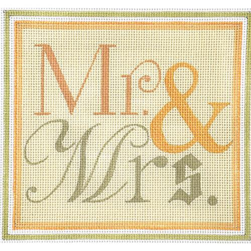 Mr. & Mrs. Painted Canvas Raymond Crawford Designs