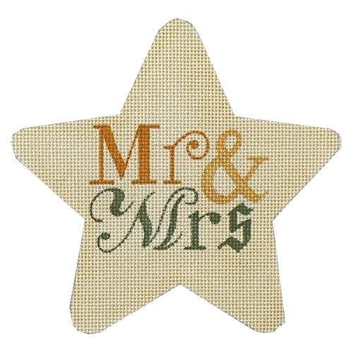 Mr. & Mrs. Star Painted Canvas Raymond Crawford Designs