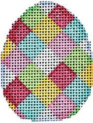 Multi Harlequin Mini Egg Painted Canvas Associated Talents