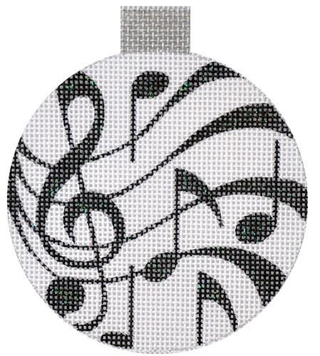 Music Ornament Painted Canvas Raymond Crawford Designs