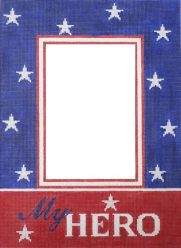 My Hero Frame Red/Blue (Vertical) Painted Canvas Pepperberry Designs