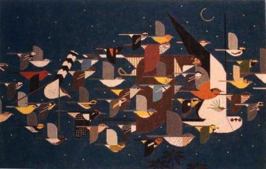 Mystery of the Missing Migrants Painted Canvas Charley Harper