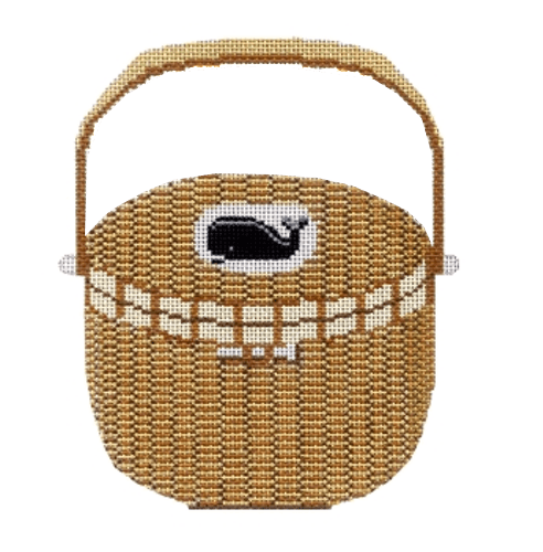 Nantucket Basket Painted Canvas CBK Needlepoint Collections