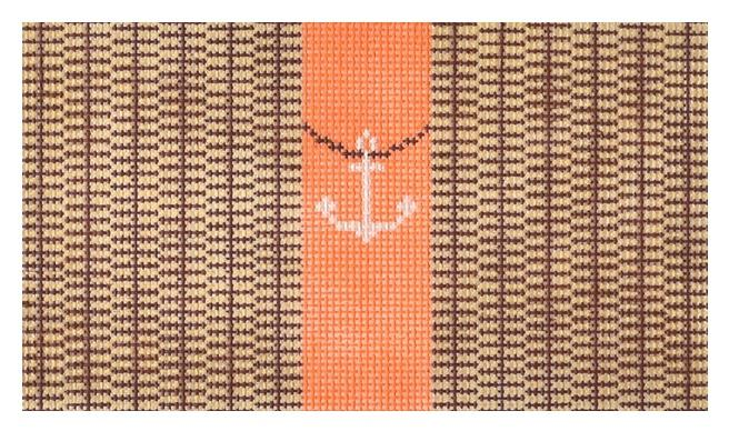 Nantucket Clutch with Anchor Painted Canvas Anne Fisher Needlepoint LLC