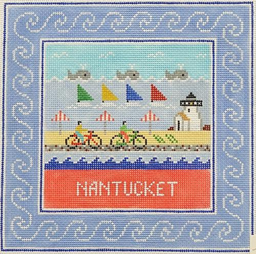 Nantucket Square Painted Canvas Doolittle Stitchery