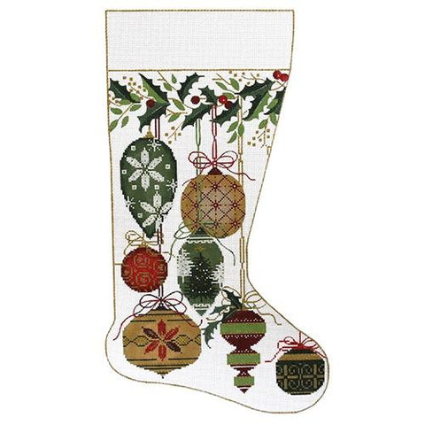 Natural Colors Ornament Stocking Painted Canvas Alice Peterson Company