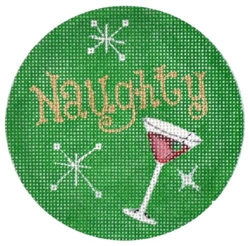 Naughty Martini Ornament Painted Canvas Pepperberry Designs