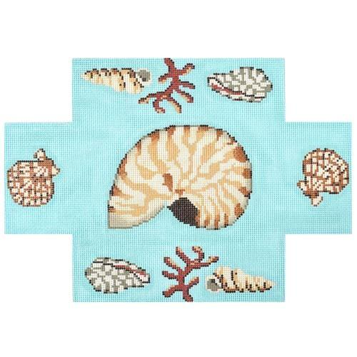 Nautilus Shell Brickcover Ill Painted Canvas Gayla Elliott