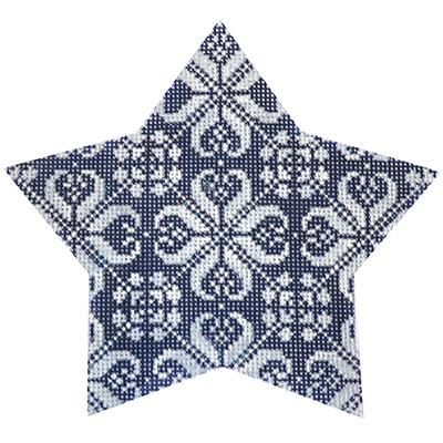 Navy Nordic Star All-Over Painted Canvas Kirk & Bradley