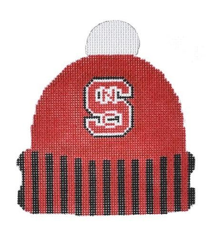NC State Cap Painted Canvas Kristine Kingston