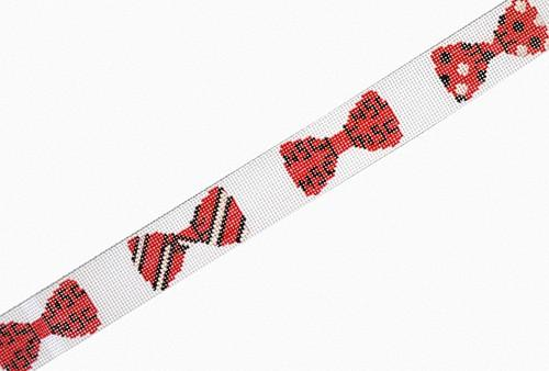 NCSU Bow Ties Belt Painted Canvas The Meredith Collection