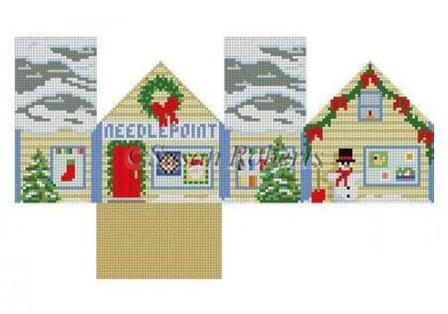Needlepoint Shop Mini House Painted Canvas Susan Roberts Needlepoint Designs, Inc.