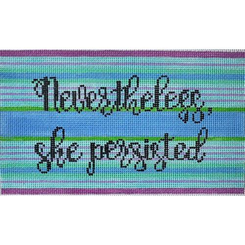 Nevertheless She Persisted (Blues) Painted Canvas Thorn Alexander