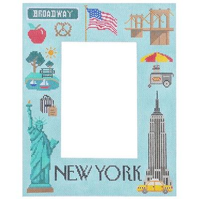 New York Picture Frame Painted Canvas Kirk & Bradley