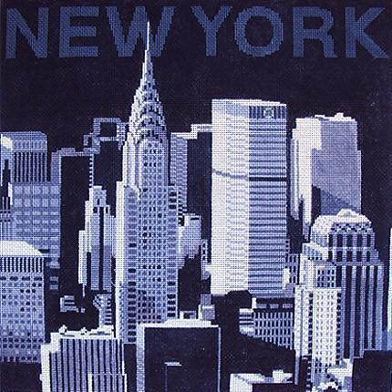 New York Skyline Painted Canvas Kirk & Bradley