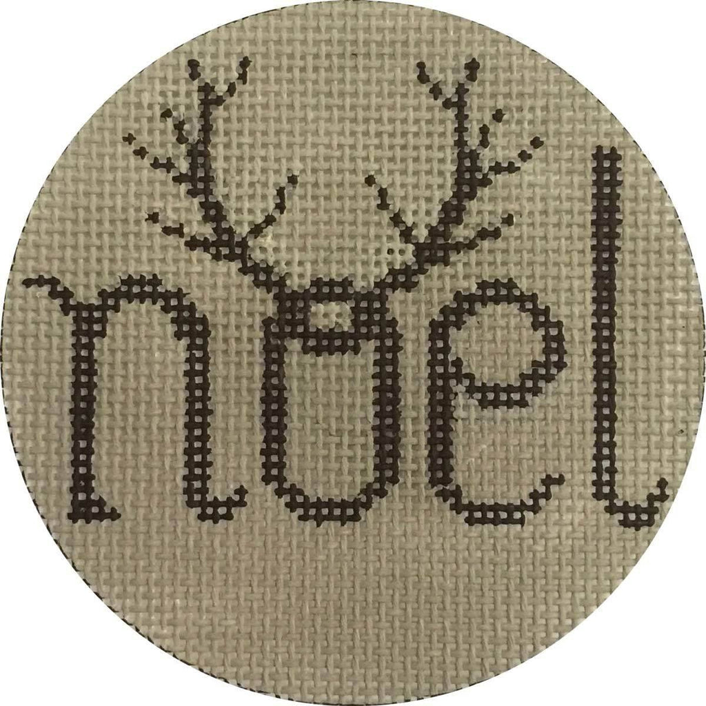 Noel Antlers Painted Canvas Alice Peterson Company