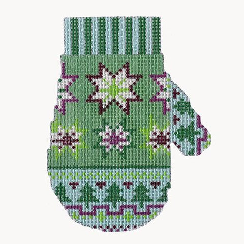 Nordic Mitten - Stars Painted Canvas Burnett & Bradley