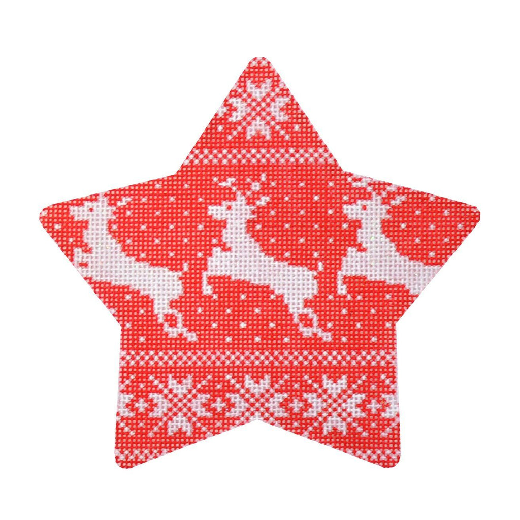 Nordic Reindeer Xmas Star Painted Canvas Kirk & Bradley
