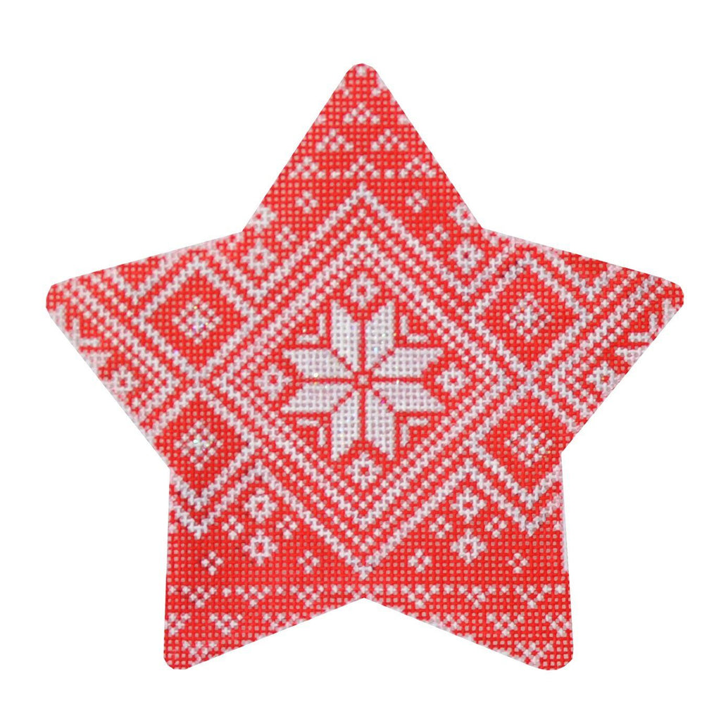 Nordic Star Pattern Xmas Star Painted Canvas Kirk & Bradley
