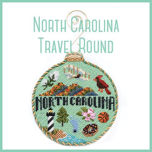 North Carolina Travel Round Online Course Needlepoint.Com