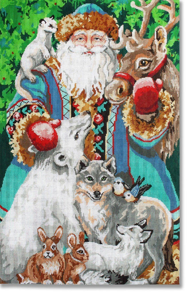 North Pole Santa Painted Canvas CBK Needlepoint Collections