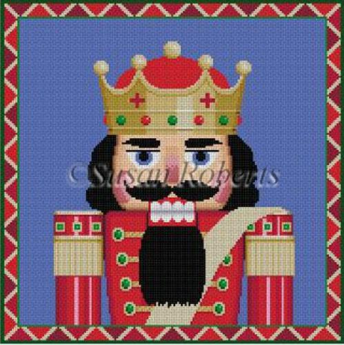 Nutcracker King Bust Painted Canvas Susan Roberts Needlepoint Designs, Inc.