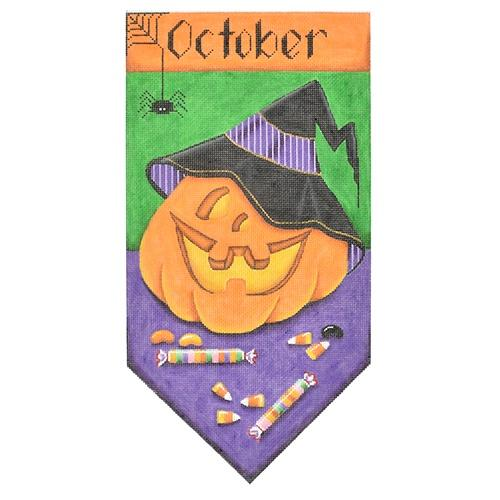 October Banner Painted Canvas Rebecca Wood Designs
