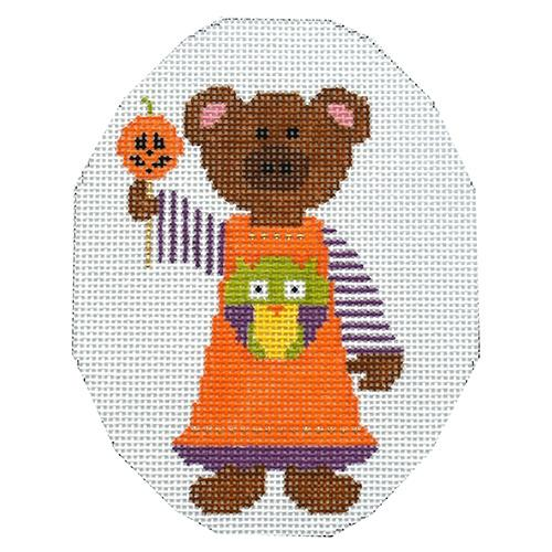 October Bear Painted Canvas The Princess & Me