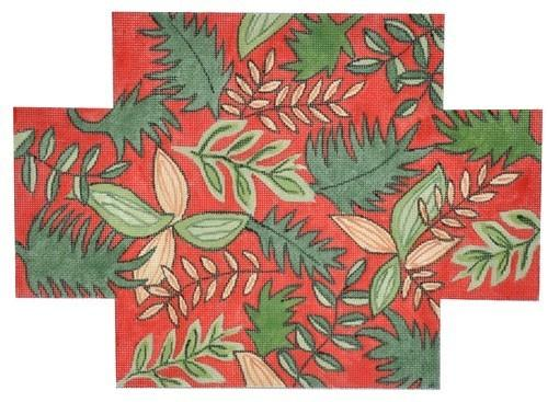 Oriental Jungle Brick Cover Painted Canvas The Meredith Collection