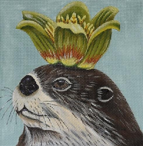 Otto the Otter Painted Canvas Vicky Sawyer