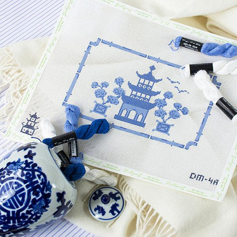 Pagoda Pillow Kit Kits The Plum Stitchery