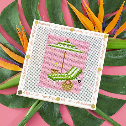 Palm Beach Chaise Kit Kits Needlepoint To Go