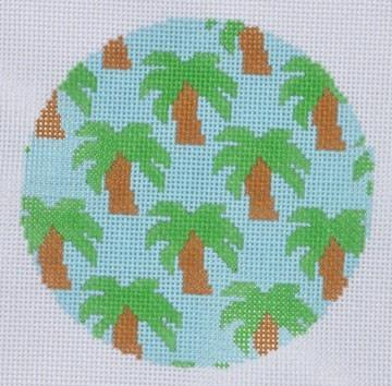 Palm Trees Ornament Painted Canvas Danji Designs