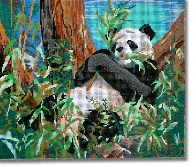 Panda Painted Canvas CBK Needlepoint Collections