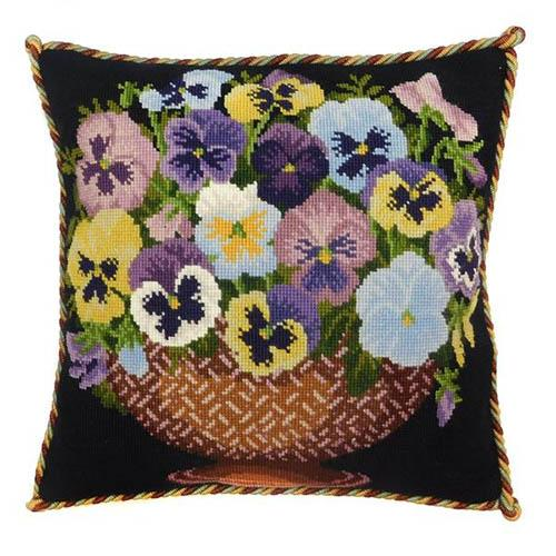 Pansy Bowl Needlepoint Kit Kits Elizabeth Bradley Design