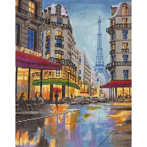 Paris Street Scene Painted Canvas The Meredith Collection