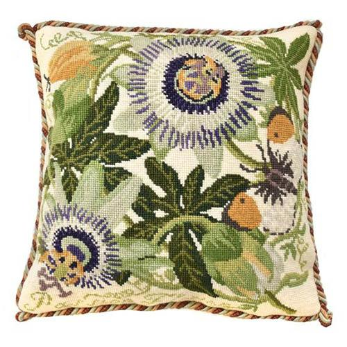 Passion Flower Needlepoint Kit Kits Elizabeth Bradley Design