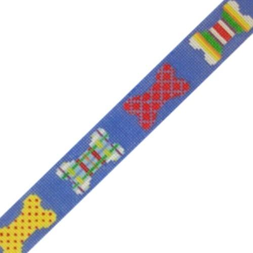Patchwork Dog Bone / Dog Collar Painted Canvas Susan Roberts Needlepoint Designs, Inc.